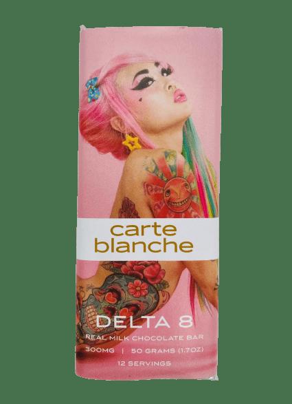 Carte Blanche Delta 8 Milk Chocolate Bar