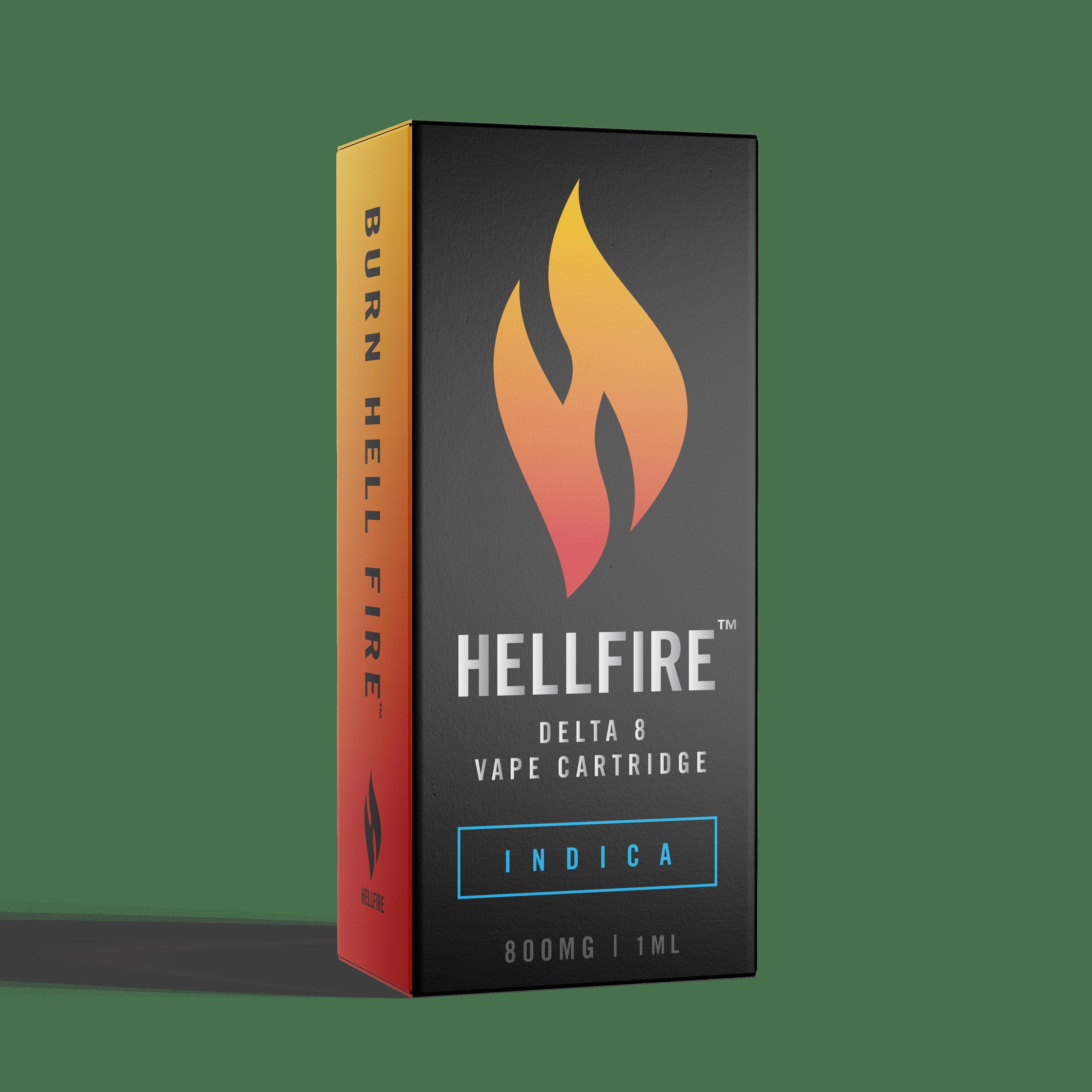 Hellfire D8 Vape Cartridges - Indica