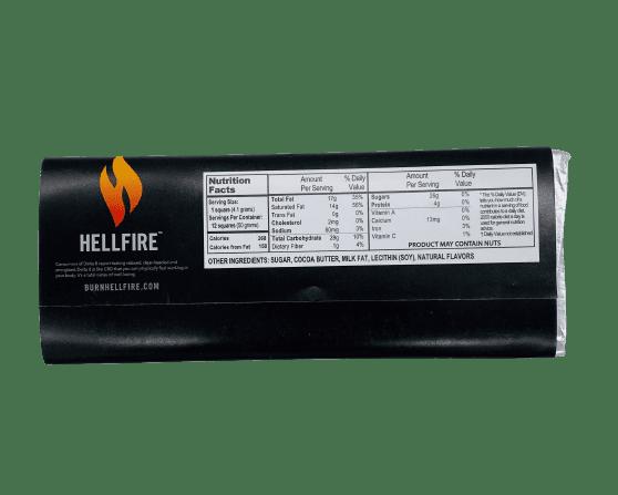 Hellfire Delta 8 Milk Chocolate Bar Back