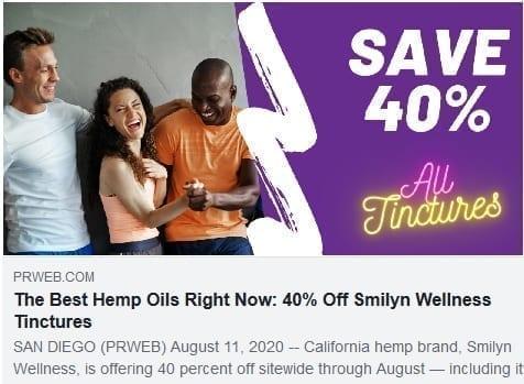 Best Hemp Oil Smilyn Wellness 40% Off