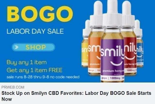 BOGO Labor Day Event Smilyn Wellness CBD