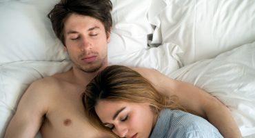 Couple sleeping lights out with CBD sleep aid