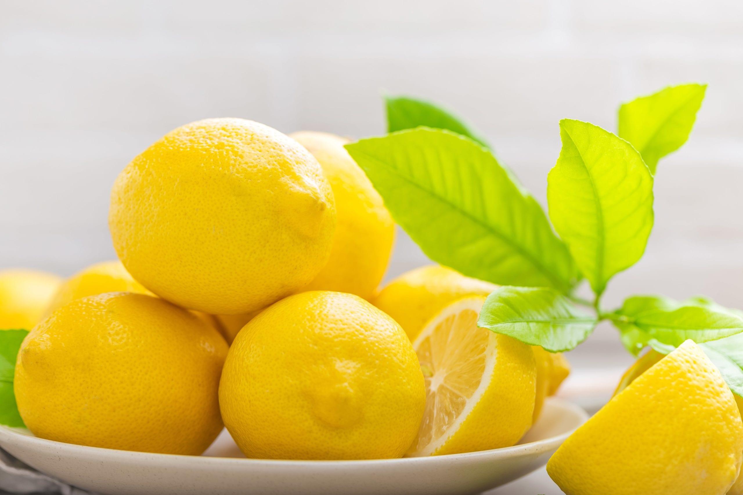 Fresh lemons for lemon CBD oil tincture