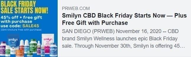 smilyn black friday prweb